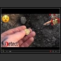 Odkrycie złotej rzymskiej monety